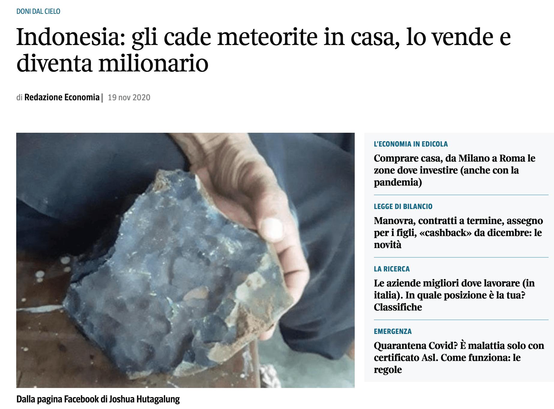 , Un Dono Piovuto dal cielo da 1.5 Mln di Euro!!!, Migastone Blog